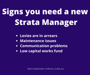 Signs you need to change strata managers